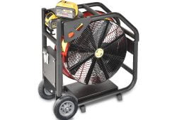 Super Vac NEW Battery Fan with DeWalt Batteries