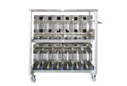 SafeTSystem Air Cylinder Management Mobile Station Rack