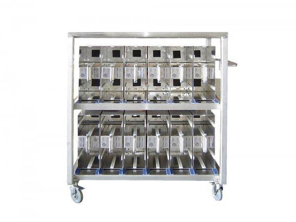 SafeTSystem Air Cylinder Management Mobile Station Rack
