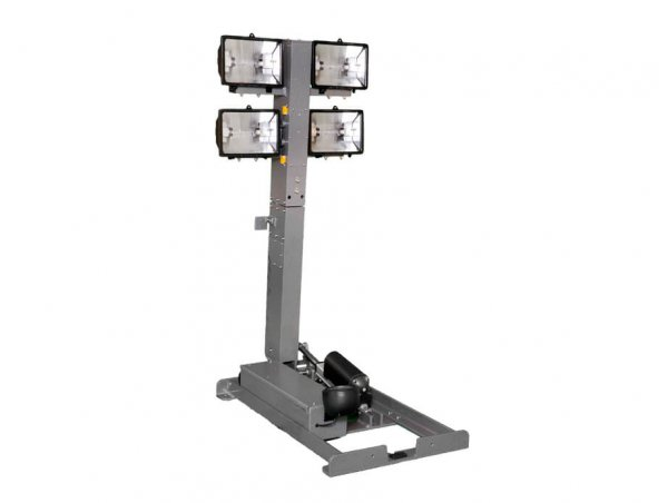 Quartz Halogen Light Towers with 4' Reach from Base