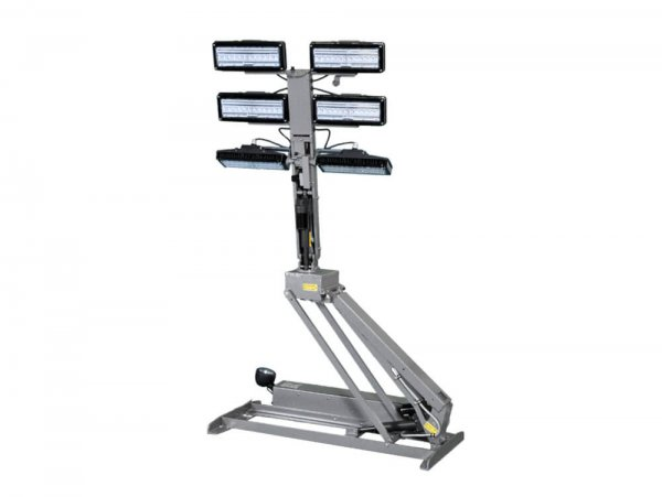 LED Light Towers with 7.5' Reach from Base