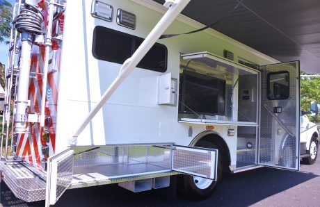 02-AT&T mobile command rescue Awning, Monitor, Outside Compartments