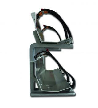 Vertical Hard Suction Mount w/ Two 10′ Trays